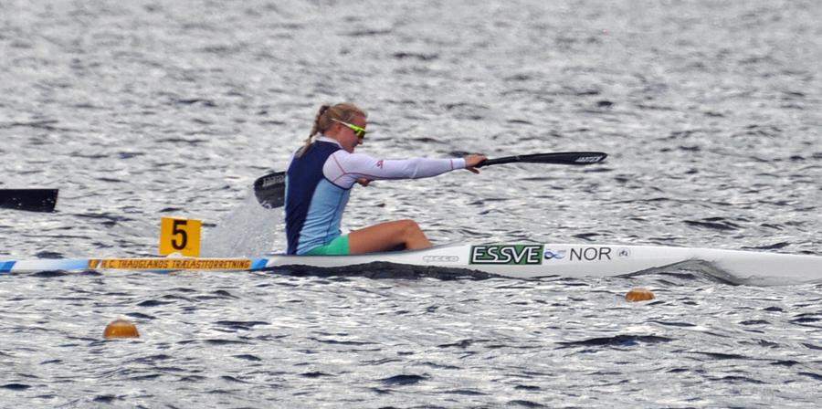 Marte Eirin Solhaug tok alle gull for K-1 Senior Damer. Foto: Joh Einar Solhaug.