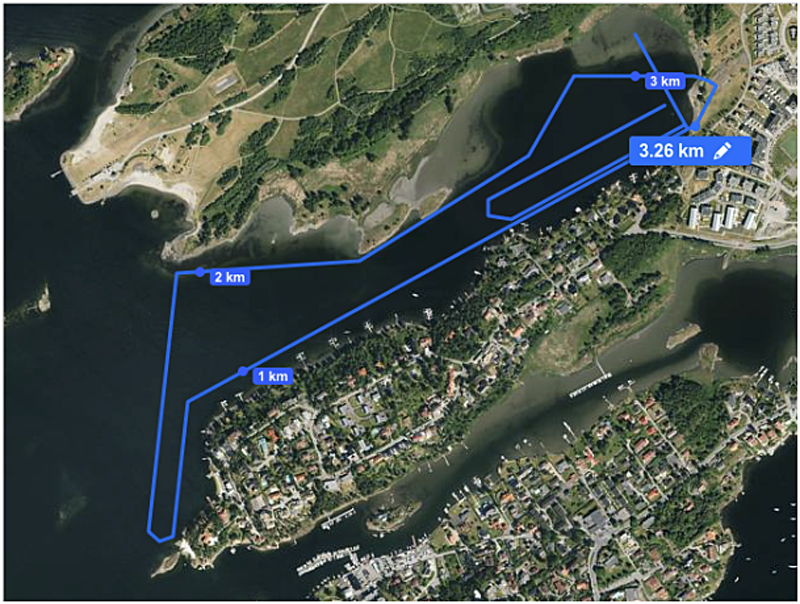 Banen til Nordisk mesterskap i Maraton 2016
